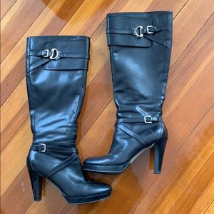 Cole Haan leather heeled boots